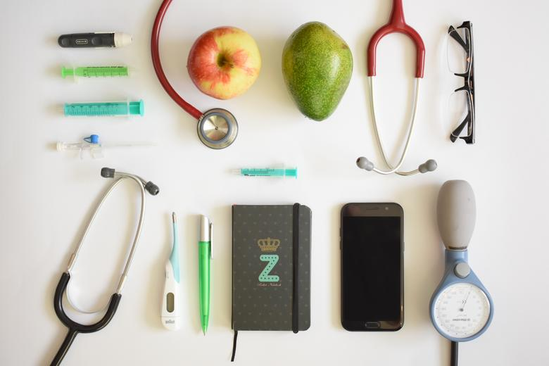 a doctor's desk